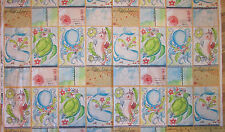 """Mermaid Days Seahorse Turtle Whale Ocean Fabric by the 23"""" Repeat  #112.115.02.1"""