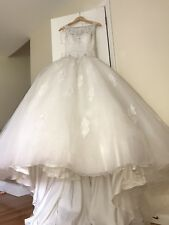 Mori Lee Ivory Color Enbroidery Top Tulle Bottom Bridal gown altered to size 2