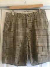 Men's Alan Flusser Golf Shorts Size 34 Brown Plaid