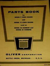 Oliver Parts Book Model 9 & 12 Corn Header for Model 40 & 25 Combine