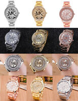 Women Men Watch Diamond Crystal Stainless Steel Strap Quartz Watches wholesale