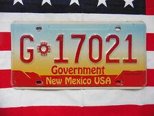 US NEW MEXICO GOVERNMENT Auto Car Plate KENNZEICHEN NUMMERNSCHILD Schild the USA