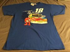 KYLE BUSCH #18 M&M'S NASCAR BLUE TEE SHIRT Chase Authentics Large Racing