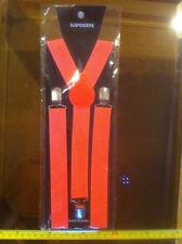 Pink Braces Suspenders Men Business Man Funny Fancy Dress Up New Sealed