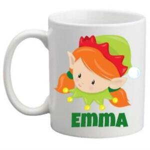 Christmas Mug Girl Elf Redhead
