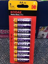 KODAK AA 1.5V HEAVY DUTY BATTERY BATTERIES REMOTE TORCH TOYS LONG LIFE 10 PACK