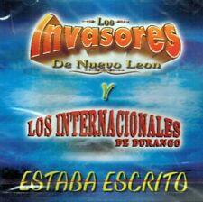 Los Invasores de Nuevo Leon. Los Internacionales de Durango Estaba Escrito CD