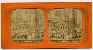 Jean and Renie Sa Mere , French Opera ? Hold to light Tissue Stereoview Photo