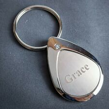 Grace Keychain Keyring Personalized Name Mulberry Studios NEW