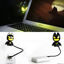 New LED Creative Batman USB Lamp Power Bank Night Light Cute Superhero