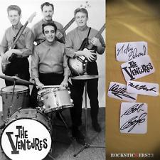 The Ventures autographs stickers Nokie Edwards, Don Wilson, Mel Taylor,Bob Bogle