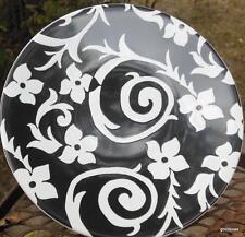 "Samanta Collection by Roscher Dessert / Salad Plate 8.5"" Black and White"