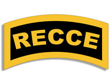 3x5 inch Yellow RECCE Tab Shaped STICKER - ssi canada canadian army military i