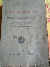 STORIA DEL MEDIO EVO di GIUSEPPE PALADINO - SANDRON - 1938