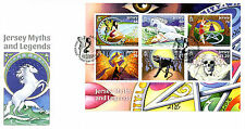 Jersey 2016 FDC Myths & Legends 6v M/S Cover Fairies Dragons Witches Stamps