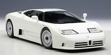 1/18 Autoart Bugatti eb110 GT 1991 WHITE BIANCO + gratuita 1/18 vetrina per farlo!