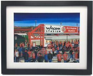 Accrington Stanley F.C Wham Stadium High Quality Framed Art Print. Approx A4.