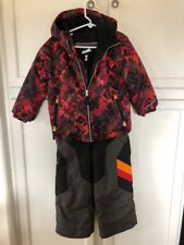OBERMEYER SKI SNOW SUIT JACKET SET PANTS BIBS I GROW OUTFIT HOOD BOY'S 4 5