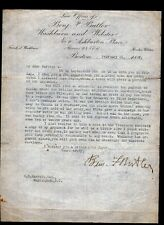 General Benjamin F Butler 1889 --  Legal Letter signed - Boston - Bold Signature