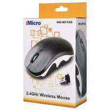 iMicro Wireless Optical 4 Button 2.4GHz Scroll Mouse with Nano USB Transceiver