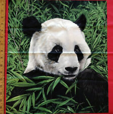 Lot 1323 Exclusively Quilters, 1.66 Yards Giant Pandas Blocks, Looks Like Cotton