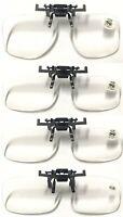 Clip-On Flip-Up Clear Reading Glasses +2.0~+4.0/Or 4 Colour Polarises Lens +0.00