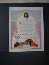1924 Bourjois Manon Lescaut Face Powder Cosmetics Color Vintage Print Ad 11714