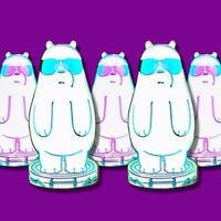 Ice Bear We Bare Bears Pin | We Bare Bears Pins | Ice Bear Pin | Cartoon Badge