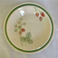 Wedgwood Raspberry Cane Green Rim Soup Bowl England