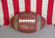 Vintage Wilson Leather Football with Laces Joe Montana Signature Model 1/2 Nice