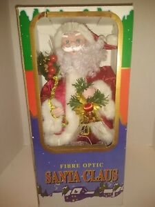 "16"" Fiber Optic Santa Claus Holding A Christmas Bell.New"