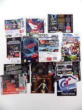 lot de Jacquettes PS1 Wii Nintendo DS Tomb Raider Granturismo DRIVER SMASH BROS