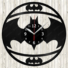 Batman Logo Vinyl Record Wall Clock Decor Handmade 2119