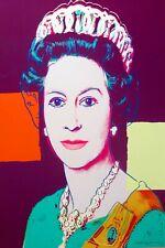 Andy Warhol Queen ELIZABETH  Canvas wall pop art  20 x 30 Inch A1 large new big