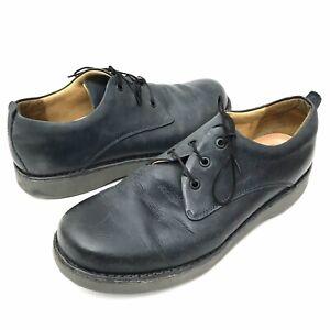 Samuel Hubbard Free Mens 10 D Gray Plain Toe Derby Oxford Lace Up Comfort Shoes