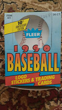 1990 Fleer Baseball Factory Box 36 Sealed Packs