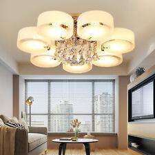 E27 LED Kristall Deckenlampe Hängeleuchte Kronleuchter 3-7 Flammig Wohnzimmer