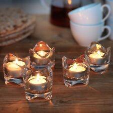 9 x IKEA VÄSNAS (Vasnas) Clear Glass Tealight/Tea-Light Candle Holders