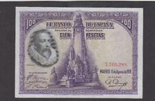 100 PESETAS AUNC CRISPY BANKNOTE FROM SPAIN 1928 PICK-76