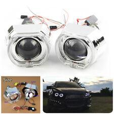 "2X 2.5"" LED Angel Eyes Halo DRL Bi Xenon Projector Lens For H4 H7 Car Headlight"