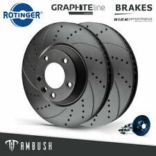 Fits VW Touareg Transporter Rotinger Drilled & Grooved Brake Discs Front Pair