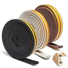D Type Rubber Door Tape Self Adhesive Foam Collision Avoidance Seal Strip