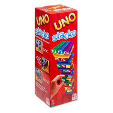 UNO Stacko Fun Pile Tower Game with a Twist - Kid's Family Game Mattel NEW