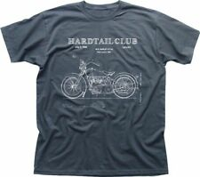 Club De Motos Hardtail Custom Chopper Biker patente Carbón Camiseta 9286