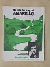 1970s SHEET MUSIC - IS THIS THE WAY TO AMARILLO - TONY CHRISTIE