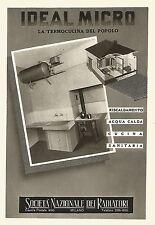 W9228 IDEAL MICRO la termocucina del popolo - Pubblicità del 1940 - Vintage ad