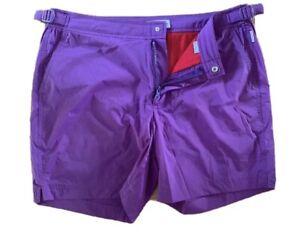 "Orlebar Brown Bulldog Sport Swim Shorts Mid Length 32"" Waist Purple New"