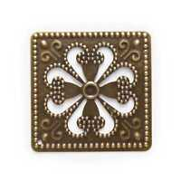 Bronze Tone Filigree Wraps Hollow Square Connnector Embellishments Findings 46mm