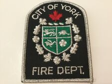 City of York Fire Department Shoulder Patch-Old Toronto,Pre 1998,Ontario,Canada
