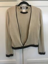 Authentic CHANEL Vintage Ensemble Cardigan Tops Beige  Sz.36